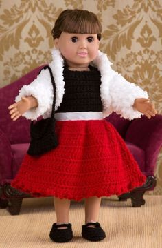 Party Time Doll Outfit in Red Heart Buttercup - LW4326. Discover more Patterns by Red Heart Yarns at LoveKnitting. The world's largest range of knitting supplies - we stock patterns, yarn, needles and books from all of your favorite brands.