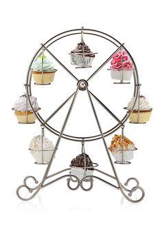 Whimsical serving ware.  #ideel: GODINGER Ferris Wheel Cupcake Holder
