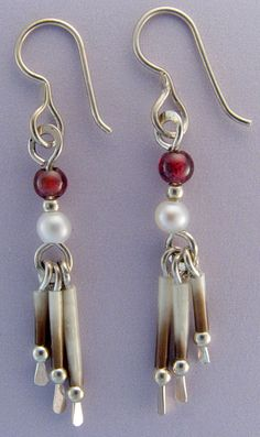 Porcupine Quill earrings with Sterling paddles