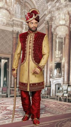 We offer a large sherwani collection including wedding, jodhpuri,sangeet, traditional, Indian and many more. Choose latest shervani designs to buy sherwani online & look the best at any occasion At Indians Fashion Sherwani For Men Wedding, Mens Sherwani, Wedding Men, Indian Ethnic Wear, Classic Looks, Indian Fashion, Fabric Design, Men Dress, Menswear