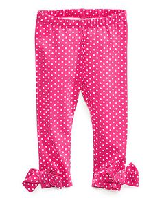 First Impressions Baby Pants, Baby Girls Bow Leggings - Kids Baby Girl (0-24 months) - Macy's