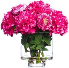 A premier online destination of luxury fabrics, wallpapers and furnishings from designers and to-the trade brands. Faux Flower Arrangements, Pink Peonies, Faux Flowers, Hot Pink, Glass Vase, Wallpaper, Design, Home Decor, Fake Flowers