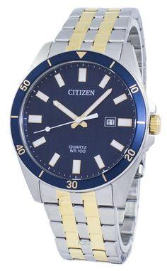 Quartz Men's Watch Stainless Steel Bracelet, Stainless Steel Case, Rolex Watches, Watches For Men, Authentic Watches, Two Tones, Watch Sale, Watches Online, Omega Watch