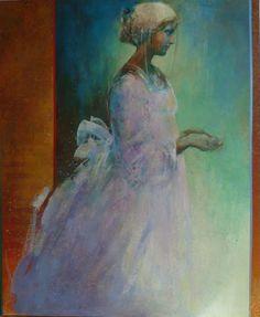 "Saatchi Online Artist: Danka Jaworska; Paint, Mixed Media ""Lilla"""