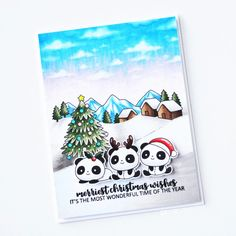 Stamps: Christmas Panda Plushies, Picture It Christmas, Simply Said Christmas Christmas Panda, Merry Christmas, Babies First Christmas, Clear Stamps, Plushies, Wonderful Time, Holiday Crafts, Card Ideas, Cards