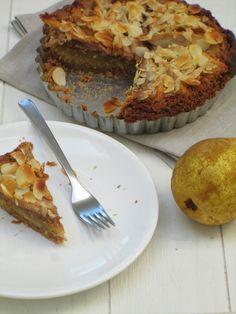 Peren speculaas taartje