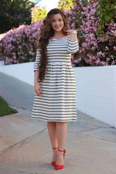 Women's Work Fashion Dresses For Teens, Modest Dresses, Modest Outfits, Stylish Dresses, Modest Fashion, Dress Outfits, Casual Dresses, Fashion Dresses, Summer Dresses