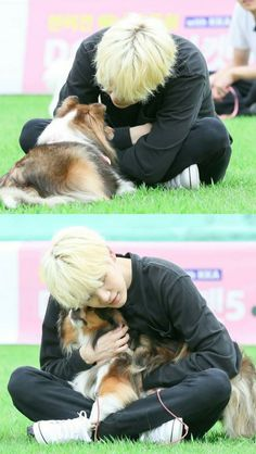 Yoongi with dog