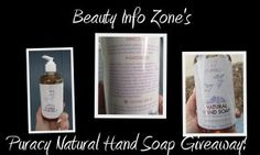 Puracy Natural Hand Soap #giveaway from @beautyinfozone