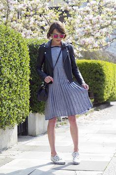 Prism Glasses, Maje Jacket, Charlie May Dress, Thakoon Bag, Vans Sneakers