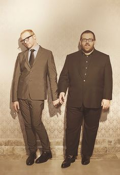 Comedy duo Simon Pegg and Nick Frost, photographed by Jay Brooks