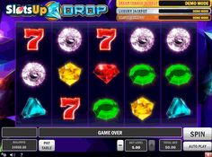 Let gems drop in this wonderful slot machine from Play'n GO - Gem Drop. This slot game features 5 reels and 10 pay lines. Gem Drop offers you such features as a progressive jackpot, bonus rounds, wild and scatter symbols, multipliers. It has nice gem symbols, which are drawn extremely well. The game is available at www.SlotsUp.com