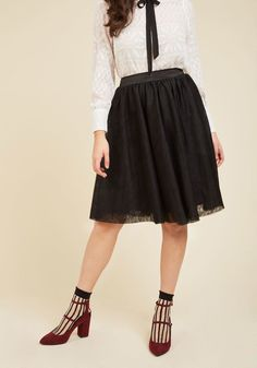 Tulle of the Trade A-Line Skirt in Noir