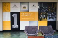 WSU Rhatigan Student Center – Gardner Design Corporate Interiors, Corporate Design, Retail Design, Office Wall Design, Office Wall Art, Environmental Graphic Design, Environmental Graphics, Web Design, Layout Design