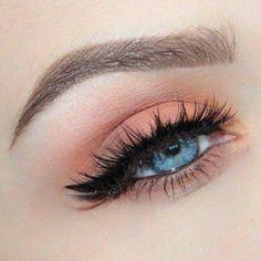 The Best eye-makeup hacks. Die besten Augen-Make-up-Hacks. Cute Makeup Looks, Makeup Eye Looks, Eye Makeup Art, Natural Eye Makeup, Natural Eyes, Gorgeous Makeup, Pretty Makeup, Skin Makeup, Eyeshadow Makeup