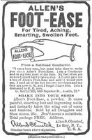 Allen's Foot-Ease Powder 1904 Ad Picture