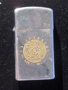 Vintage 1975 Zippo Slim Zodiac Sagittarius Lighter | eBay