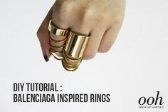 DIY Tutorial: Balenciaga Inspired Rings DIY Jewelry DIY Rings