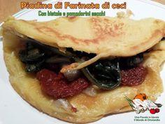 Piadina di farinata di ceci con bietole e pomodorini secchi: