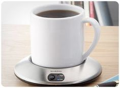 Mug Warmer    For the busy workers in your life, a desktop mug warmer is a much-needed gift that fits right into the Christmas stocking. The coaster-like heater ensures that any hot beverage-coffee, tea, hot cocoa-stays hot to the last drop. $25