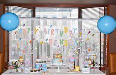Dr. Seuss Oh The Places You'll Go 1st Birthday Party via Kara's Party Ideas KarasPartyIdeas.com #ohtheplacesyoullgo (3)