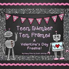 Let your students have a little fun while practicing their teen numbers this Valentine's Day season! These three worksheets are designed to help develop number sense and beginning place value concepts in kindergarten and first grade students. Happy Valentine Day Video, Valentines Day Poems, Valentine Theme, Valentines Day Greetings, Personalized Valentine's Day Gifts, Teen Numbers, Tens And Ones, Classroom Freebies, Valentines Day Activities