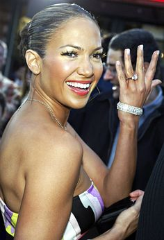 Jennifer Lopez. She's been presented with a total of four engagement rings, but one stands out from the rest. Ben Affleck famously gave her a 6.1-carat pink diamond form Harry Winston in 2002.