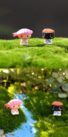 [Visit to Buy] Mini lovely Eel sushi Anime Action Figure miniature garden bonsai decoration figurine statuette toys DIY accessories ornaments #Advertisement