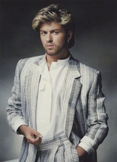 Image result for george michael gray suit