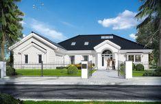 Projekt domu Rezydencja Parkowa 3 - 259,28 m2 - koszt budowy 361 tys. zł My House Plans, Home Fashion, House Colors, Facade, Cool Designs, Colours, Mansions, House Styles, Home Decor