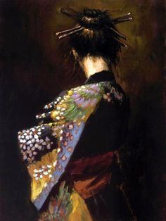 Fabian Perez New Geisha painting is available for sale; this Fabian Perez New Geisha art Painting is at a discount of off. Art Gallery, Art Painting, Asian Art, Fabian Perez, Geisha, Painting, Female Art, Art, Geisha Art