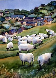 Country Sheep - Mary Gibbs at www.marygibbsart.com