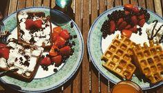 Lehké a křupavé wafle   NejRecept.cz Nutella, Treats, Breakfast, Sweet, Pizza, Fit, Author, Sweet Like Candy, Morning Coffee