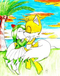 cosmo and tails kiss by erosmilestailsprower on DeviantArt