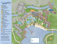 Map of Disney's Yacht and Beach Club Resort