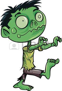 Cartoon cute zombie. Isolated