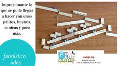 Las máquinas Rube Goldberg son un tipo de series que combinan varios tipos diferentes de máquinas simples en serie para llevar a cabo una tarea. Rube Goldberg es el nombre del inventor que la utilizó para dibujar caricaturas de dichos sistemas. Proporciona una gran variedad de materiales, como prismas, reglas,