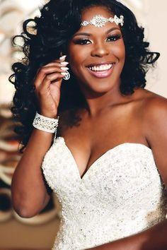 50 Superb Black Wedding Hairstyles | Black hairstyles, Veil and Curly