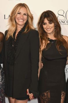 Julia Roberts and Penelope Cruz at Lancome's 80th anniversary party