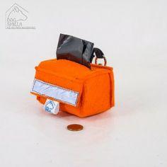 """Kotbeutel – Tasche """"Safety first"""" orange  14,90€"""