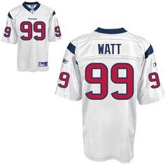 Reebok Houston Texans J.J. Watt 99 White Authentic Jerseys Sale