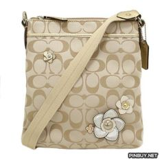COACH Signature Floral Applique Swingpack Crossbody - Cross Body - Bags and  Purses c28ecc941b