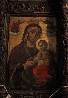 Παναγία Αγιογαλούσαινα στην Χίο. Icon of Panagia Agiogalousaina (i.e. from Agio Galas village on the island of Chios, Greece).