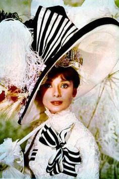 "Photo Still of Audrey Hepburn: 1964, as Eliza Doolittle in ""My Fair Lady,"" costume for Ascot."