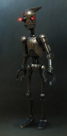 Old school bot, Peter Konig on ArtStation at https://www.artstation.com/artwork/A90xy
