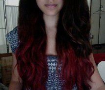 Red Dip Dye this is going to be my hair pretty soon :) Red Dip Dye Hair, Dyed Hair, Medium Hair Styles, Natural Hair Styles, Long Hair Styles, Red Hair Tips, Dying My Hair, Roll Hairstyle, Coloured Hair
