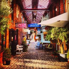 Side street shopping arcade in Leek Alleyway, Perfect Place, Arcade, Places To See, To Go, House Ideas, New Homes, England, Outdoors
