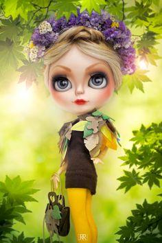 Erregiro Blythe Custom Doll SPRING TIME Stretched Canvas