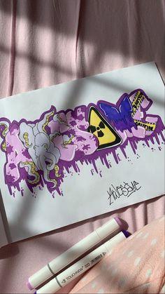 Graffiti Writing, Graffiti Tagging, Graffiti Wall Art, Graffiti Lettering, Canvas Art Projects, Diy Canvas Art, Drawings Pinterest, Graffiti Doodles, Graffiti Designs