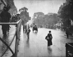 Alfred Stieglitz: A Snapshot, Paris, 1911      A Snapshot; Paris demonstrates Stieglitz's continuing interest in movement in the street and his increasing delight in greater and more spontaneous contingencies.